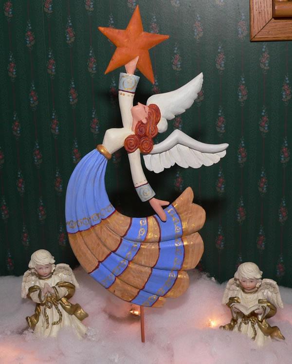 Fold Art Christmas Tree Angel Topper